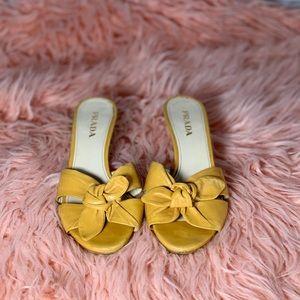 Prada bow-tie kitty heel sandals